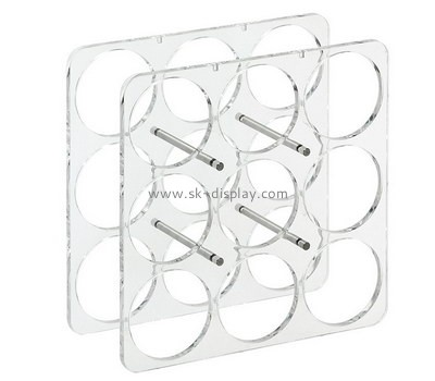 Custom acrylic 9 wine bottles holder racks WD-121