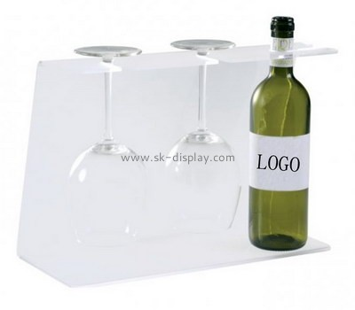 Custom acrylic wine bottle and glasses display stand WD-123