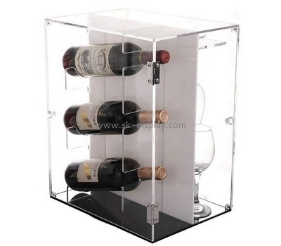 Custom acrylic wine bottles and glasses display cabinet WD-124
