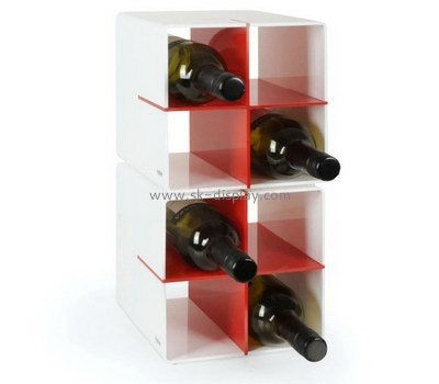 Custom acrylic wine bottles display stands WD-142