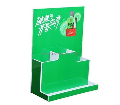 Custom retail acrylic wine bottle display stand WD-153