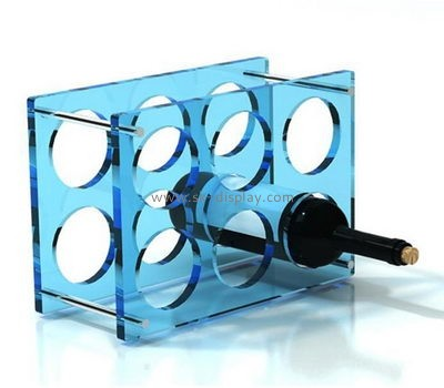 Custom acrylic 6 wine bottles display stands WD-155