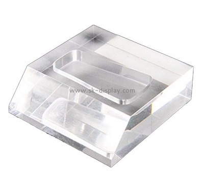 Custom laser cutting clear acrylic block CA-026