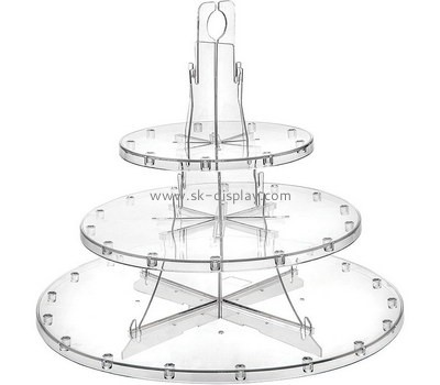 Custom 3 tiers round acrylic cake display stands FD-266