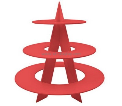 Custom 3 tiers red acrylic cupcake display stands FD-278