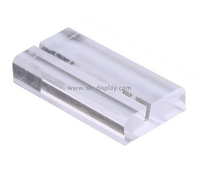 Custom acrylic block display sign holder AB-014