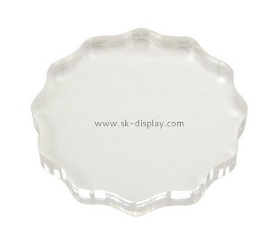 Custom round acrylic stamp block AB-015