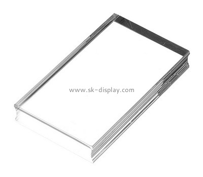 Custom clear acrylic stamp block with finger groove AB-019