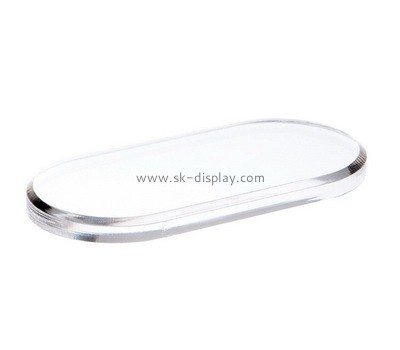 Custom oval acrylic beveled block AB-024