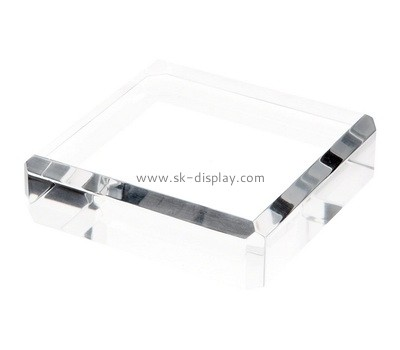 Custom clear acrylic beveled display block AB-050