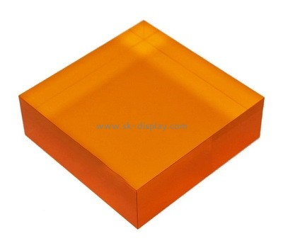 Custom orange acrylic block AB-073