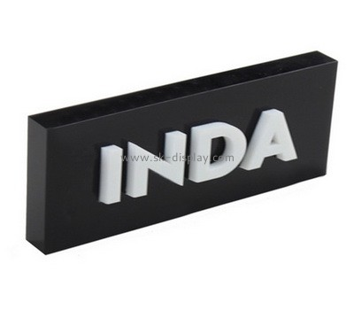 Custom black acrylic brand block AB-086