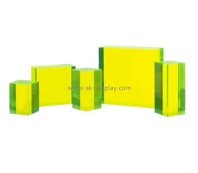 Custom color acrylic display block AB-040