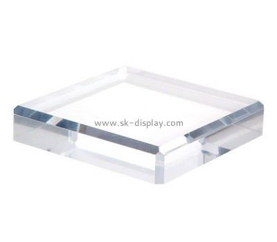 Custom clear acrylic beveled block AB-106