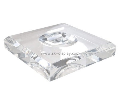 Custom clear lucite beveled soap dish block AB-123