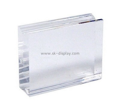 Custom clear acrylic stamping block with finger groove AB-135