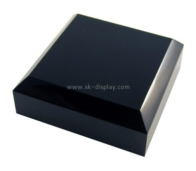 Custom black acrylic beveled display block AB-179