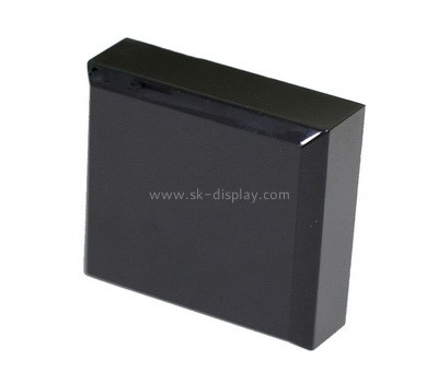 Custom laser cutting black acrylic block CA-072