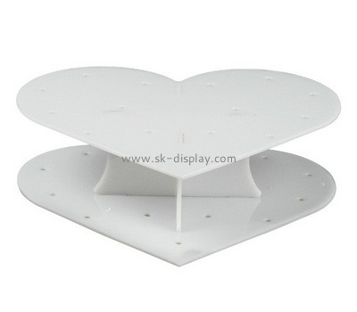 Custom heart shape acrylic cake display stand FD-306