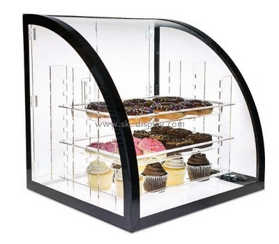 Custom counter top 3 tiers acrylic cupcake display cabinet FD-312