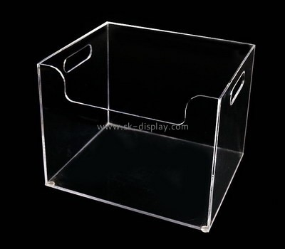 Custom clear acrylic deep serving tray holder STS-121