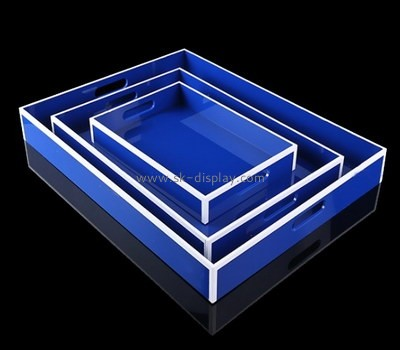 Custom blue acrylic serving trays STS-126