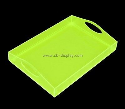Custom green acrylic serving platters STS-132