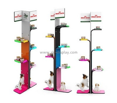 Custom tree shape acrylic pets food display stands SOD-837