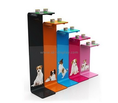 Custom acrylic pet food display risers SOD-839